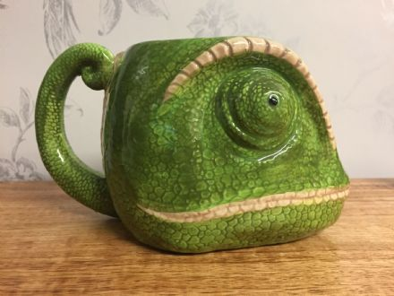 Chameleon Detailed Ceramic Reptile Head Jungle Mug